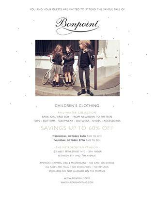 Bonpoint invitation