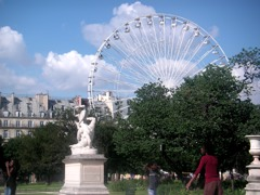 Magnificent view of Paris from the Ferry Wheel in the Tuileries