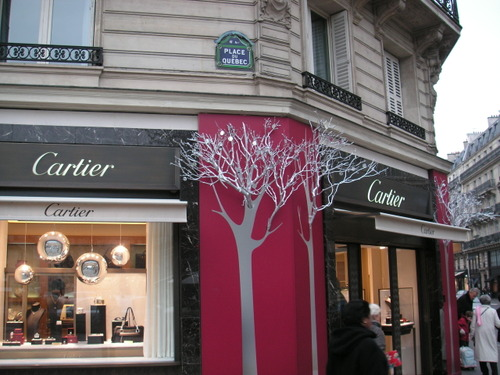 Cartier in Saint-Germain at Christmas